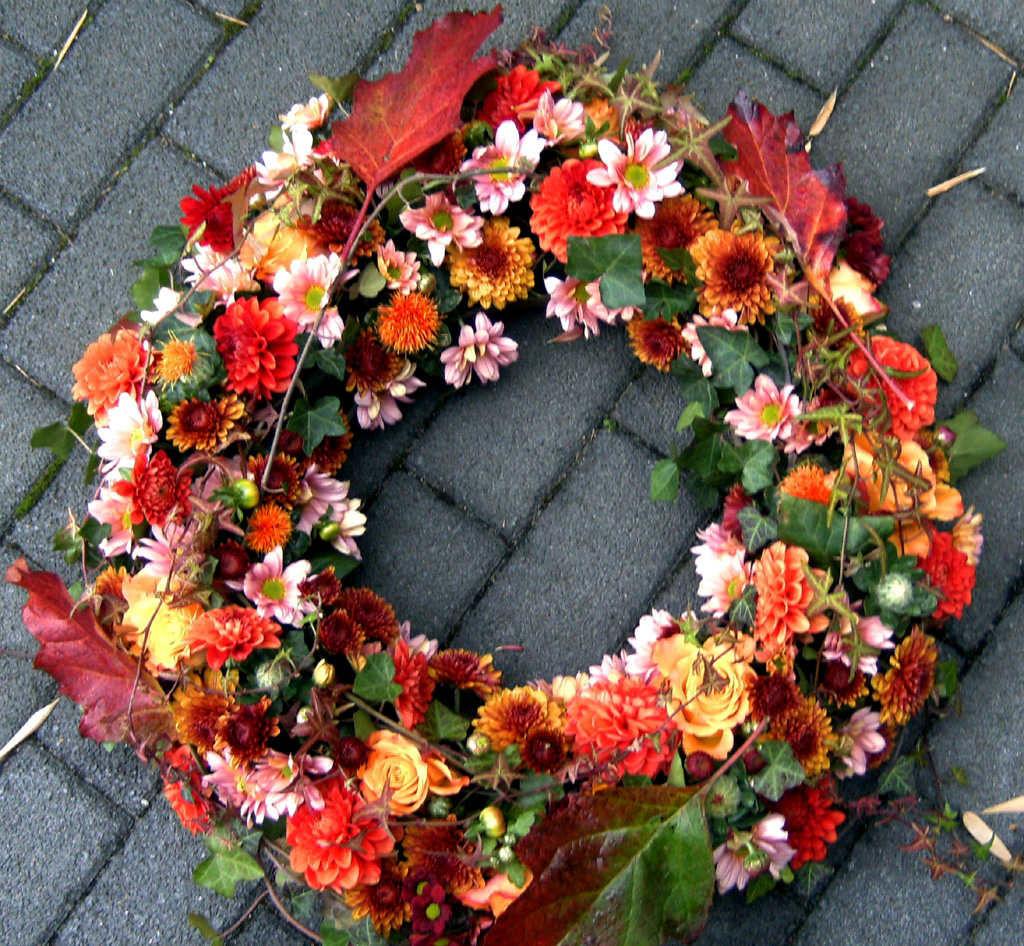 Trauerkranz Herbstlich Blumen Ballenberger Das